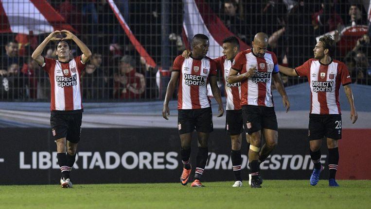 De spelers van Estudiantes in een eerdere wedstrijd Beeld anp