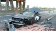 Automobilist gewond na crash op E403