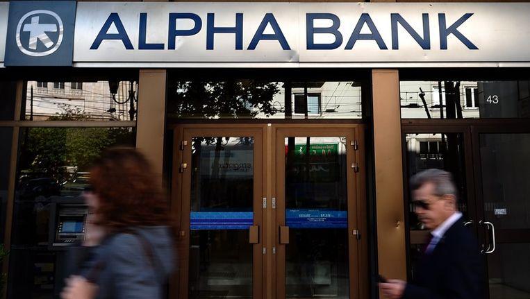 De Griekse Alpha-bank, een van de vier grootste Griekse banken Beeld afp