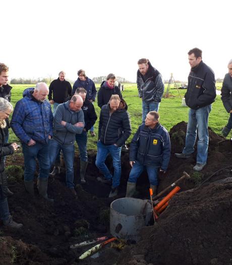 Boeren in Kockengen werken samen om bodemdaling aan te pakken