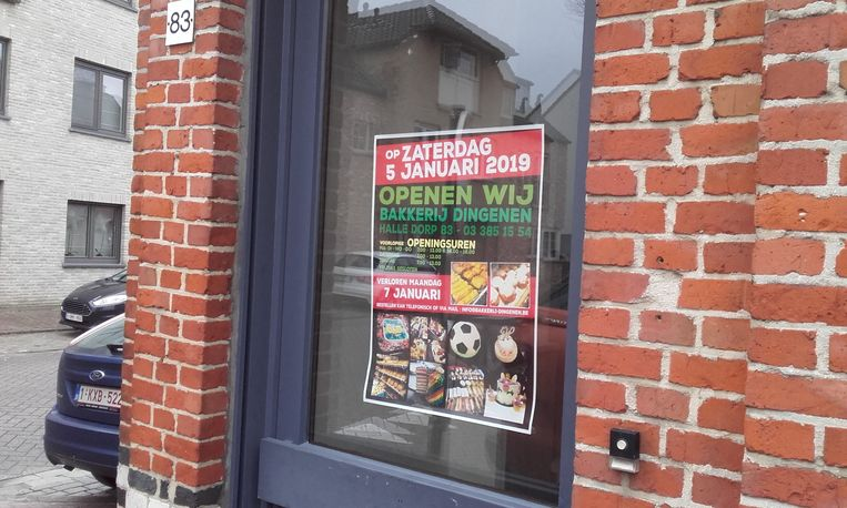 Bakkerij Dingenen opent op 5 januari.