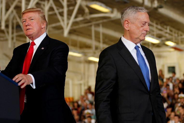 Trump was eind vorig jaar, toen hij zijn ministersploeg samenstelde, onder de indruk van vooral James Mattis en Rex Tillerson. Beeld reuters