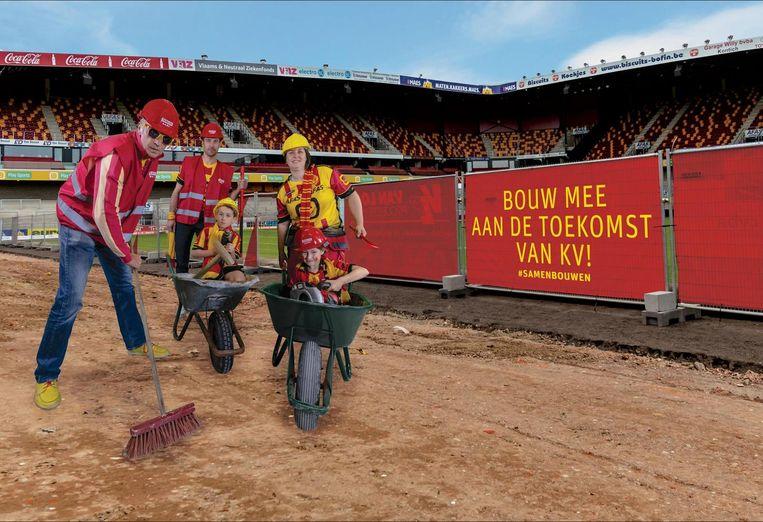 Het campagnebeeld van KVM om abonnees te lokken. U herkent links Mark Uytterhoeven.
