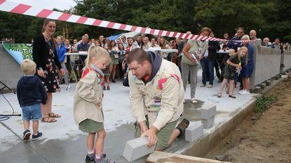 Scouts beginnen bouw aan nieuwe thuis