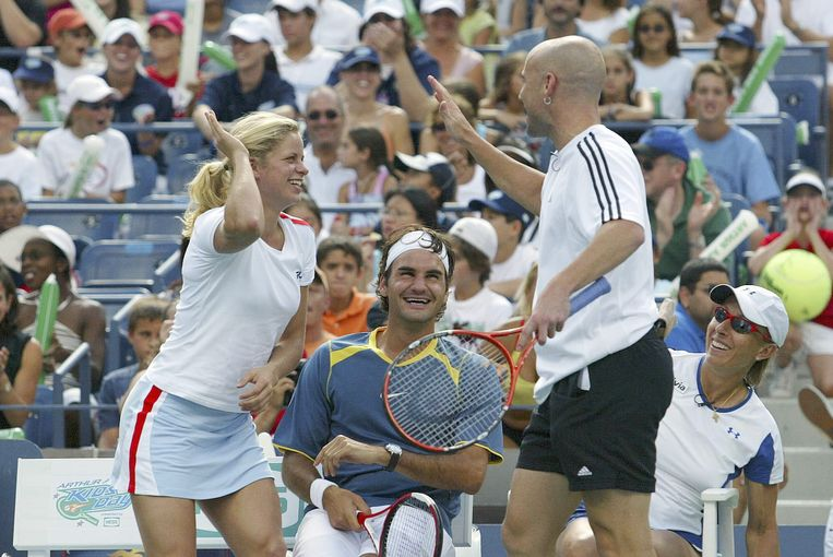 Agassi en Clijsters.