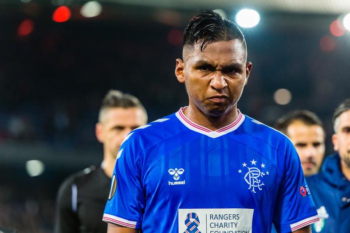 Alfredo Morelos scoorde twee keer in de wedstrijd in De Kuip.