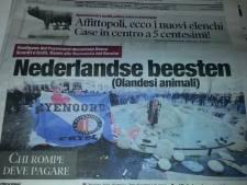 Italiaanse kranten spreken over 'Nederlandse beesten'