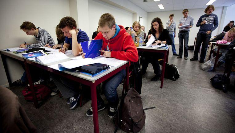 Archieffoto. Leerlingen op een middelbare school in Leiden. © ANP Beeld null