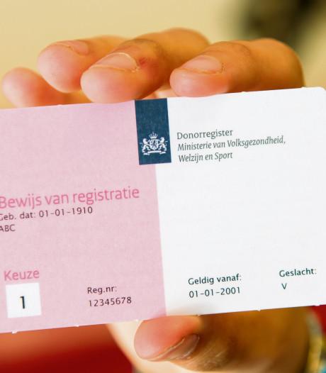 Meeste Nederlanders leggen donorkeuze (nog) niet vast