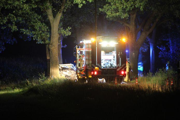 Dodelijk ongeval aan de Gelselaarseweg bij Markelo.