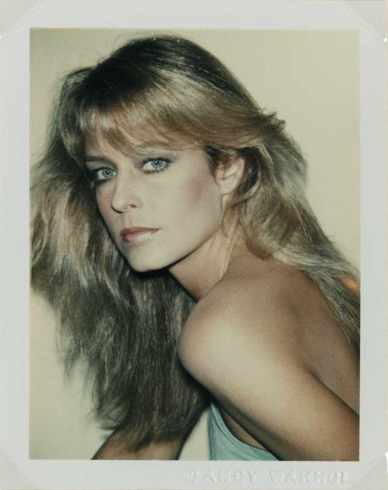 Een foto van Farrah Fawcett uit de reeks Polaroidportretten van Andy Warhol.