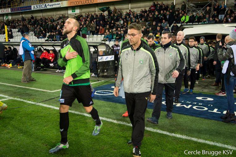 De spelers van de G-ploeg betraden zaterdag het veld samen met de ploeg van Cercle Brugge voor de aftrap. Cercle won. Het had een perfecte dag kunnen worden voor de mannen.