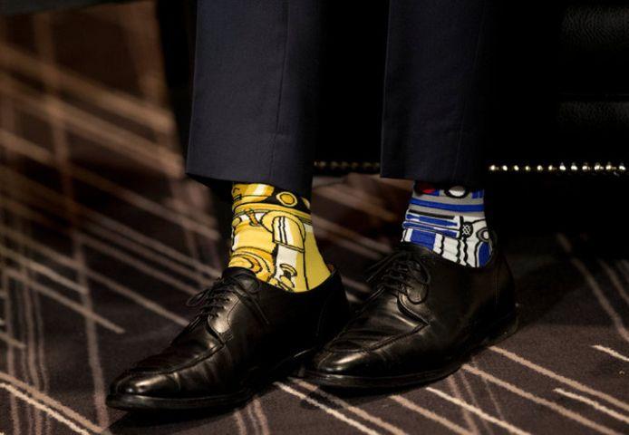 Bij een ontmoeting met de president van Ierland droeg Trudeau Star Wars-sokken. Het was internationale Star Wars-dag.