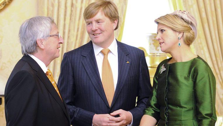 Koning Willem-Alexander en koningin Máxima op bezoek in Luxemburg, vorige week. Beeld epa