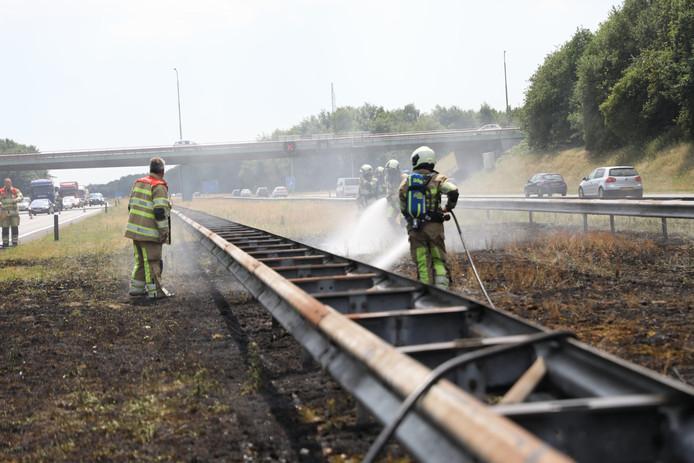 Bermbrand A27 bij Eemnes.