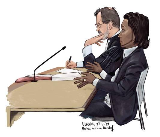 Raymond N. en zijn advocaat Starmans op de rechtbank, twee weken geleden.