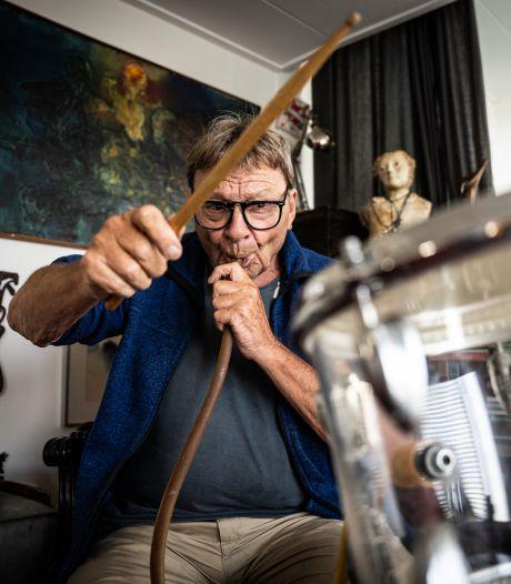 Jazzmuzikant Pierre Courbois bouwde uniek drumstel: 'Ik kan niet spelen op een gewone'