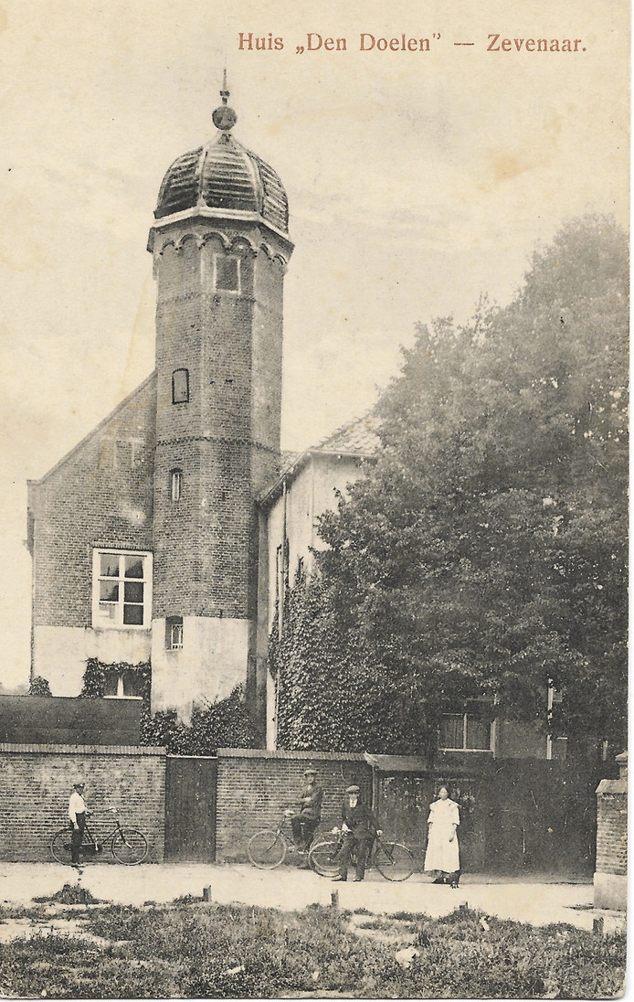 Huis Den Doelen aan de Grietsestraat in Zevenaar, omstreeks 1910.