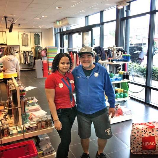 Maradona, gespot in de Hema in Mierlo.