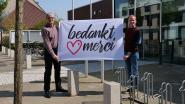 Koekelare hijst 'bedanktmerci'-vlag ter ere van alle zorgverstrekkers