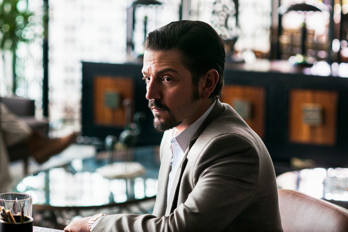 Diego Luna in Narcos: Mexico.