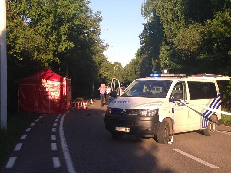 Een beeld van het ongeval