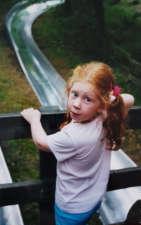 Als 6-jarige in pretpark Duinrell. Beeld -