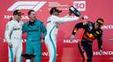Max Verstappen kwam vorig jaar als derde over de streep in Japan. Achter Valtteri Bottas en winnaar Lewis Hamilton.