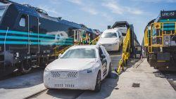 Eerste Chinese Volvo-trein aangekomen in Gent