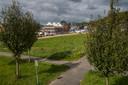 Er is veel nieuwbouw rondom het nieuwe park Woeste Wijhe.