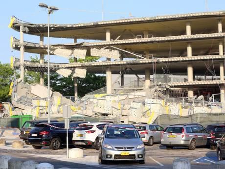 Onderzoek na instorten van de nieuwe parkeergarage bij Eindhoven Airport gaat nog maanden duren