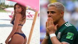 Nieuwe haarkleur, nieuwe vriendin: Mexicaan Chicharito papt aan met Australisch model