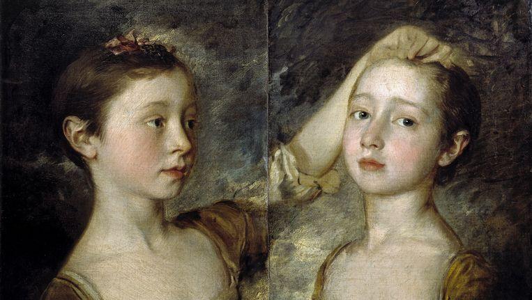 Thomas Gainsborough: The Artist's Two Daughters, ca 1758, Victoria and Albert Museum, Londen, nu te zien in Enschede. Beeld