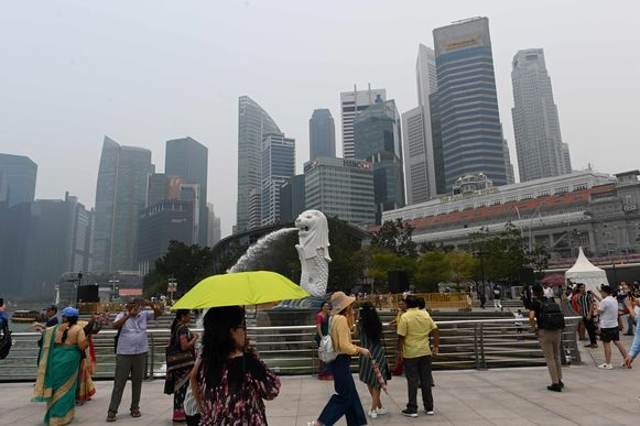 Merlion Park in Singapore.
