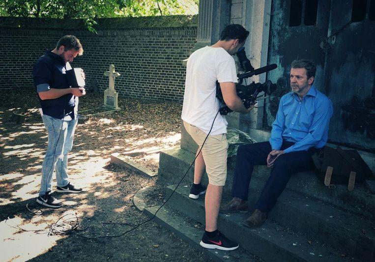 De opnames met Lucas Van den Eynde.