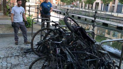 """Magneetvissers halen twintig fietsen uit Dijle: """"Op anderhalf uur tijd aanhangwagen vol"""""""