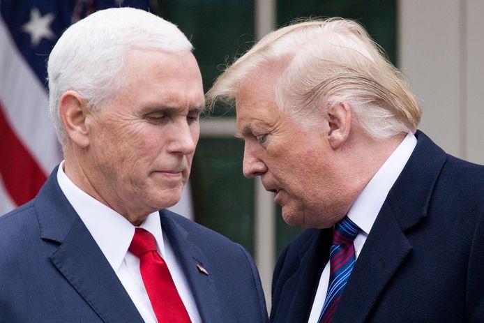De Amerikaanse vicepresident Mike Pence en president Donald Trump.