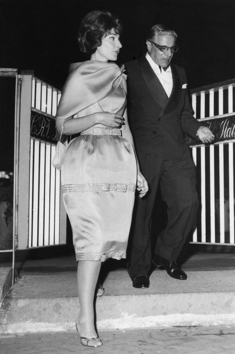 In mei 1960 met Aristoteles Onassis Beeld UPI/Topfoto/ArenaPAL