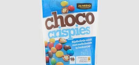 Jumbo haalt choco crispies uit de schappen; mogelijk met notenvariant gemengd