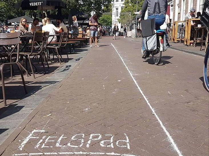 Hartje Breda: Fietspad bij café Dok 19 is meer dan een ludiek protest