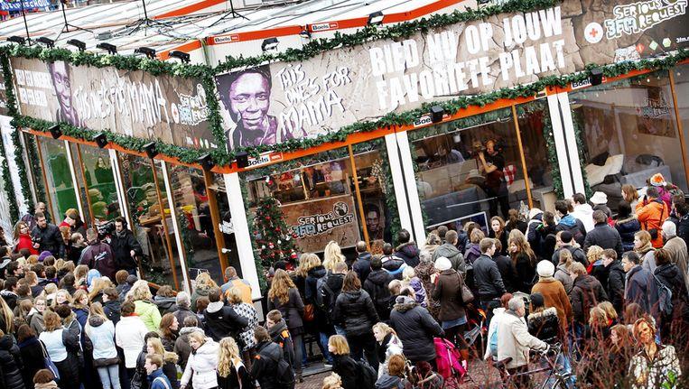 Het Glazen Huis op de Beestenmarkt in Leiden. © ANP Beeld