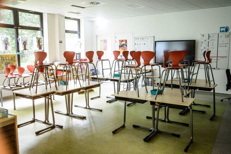Nederland, Haren, 05-10-'17; Vandaag zijn ongeveer 90 procent van de Nederlandse basisscholen gesloten. De leraren staken voor meer loon en minder werkdruk.OBS De Wissel.Foto: Kees van de Veen Beeld Kees van de Veen