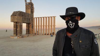 Tom Herck brandt kunstwerk op legendarisch festival in Amerika
