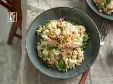 Wat Eten We Vandaag: risotto met gerookte forel en Hollandse garnalen
