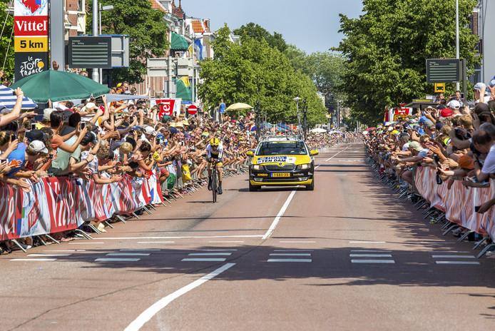 Tijdrit in de Tour de France op de Biltstraat.