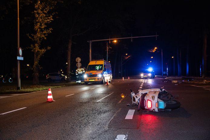 Het ongeval op de Baroniebaan in Tilburg.