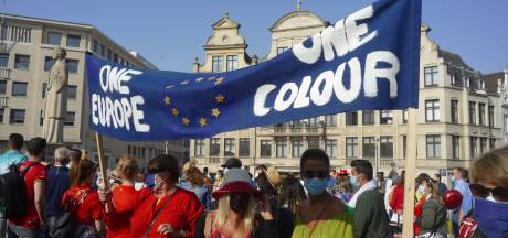 Manifestation à Bruxelles pour des restrictions simplifiées aux frontières européennes