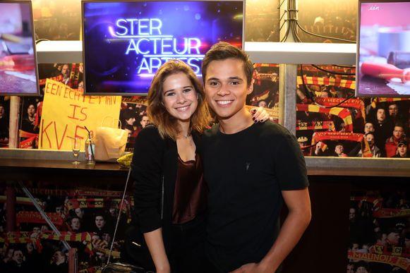 Laura Tesoro met haar ex-vriend Giovanni Kemper.