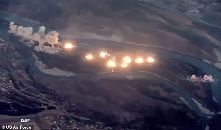 Het Iraakse gebied waar de IS-strijders zich zouden verschuilen, werd volledig vernietigd met 36.000 kilogram bommen.