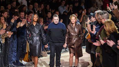 Kate Moss en Naomi Campbell samen op de catwalk voor afscheid van Kim Jones bij Louis Vuitton